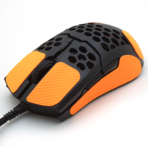 Mouse grip tape for Coolermaster MM711 from the brand TrueGrip - front left view