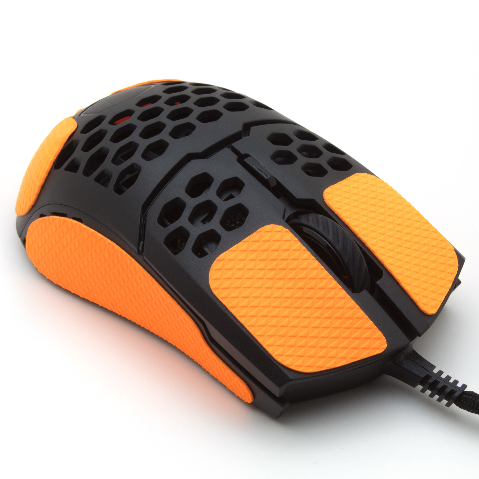 Mouse grip tape for Coolermaster MM711 from the brand TrueGrip - front right view