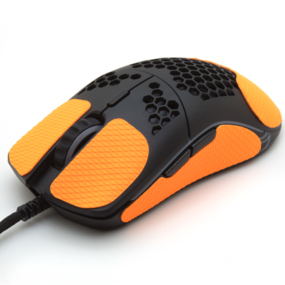 Mouse grip tape for Glorious O from the brand TrueGrip - front left view