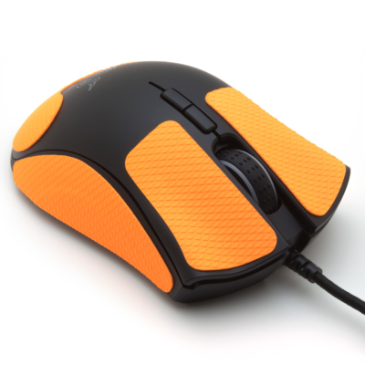 Mouse grip tape for Razer Deathadder Elite 2019 from the brand TrueGrip - front right view