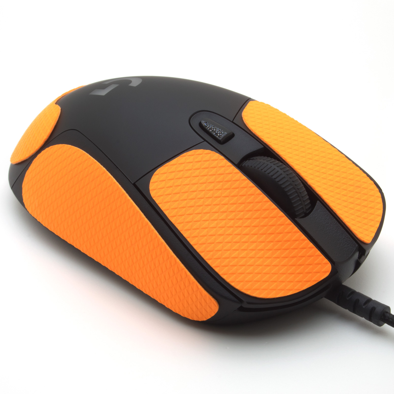 Mouse grip tape for Logitech G403 from the brand TrueGrip - front right view