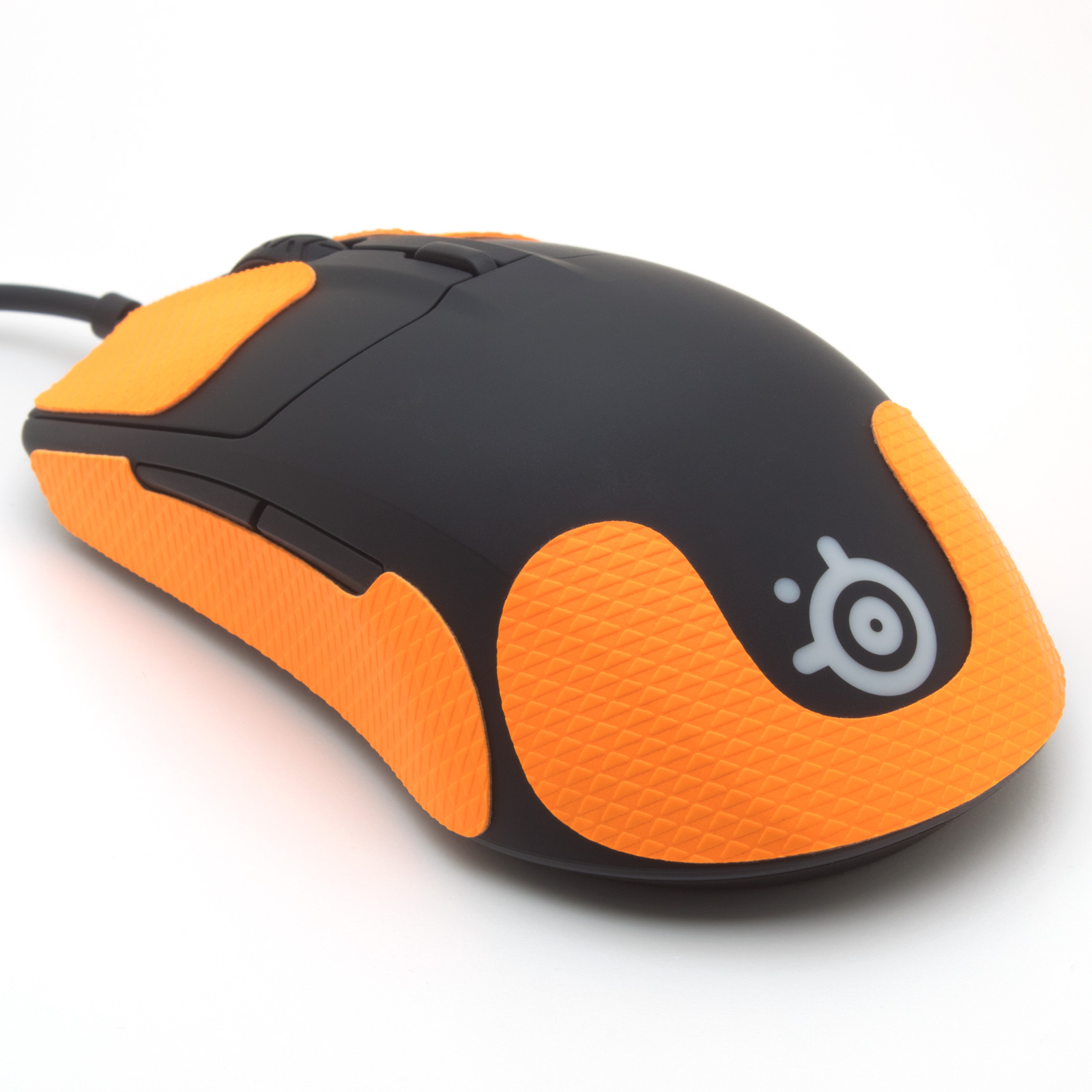Mouse grip tape for SteelSeries Rival 3 from the brand TrueGrip - back view