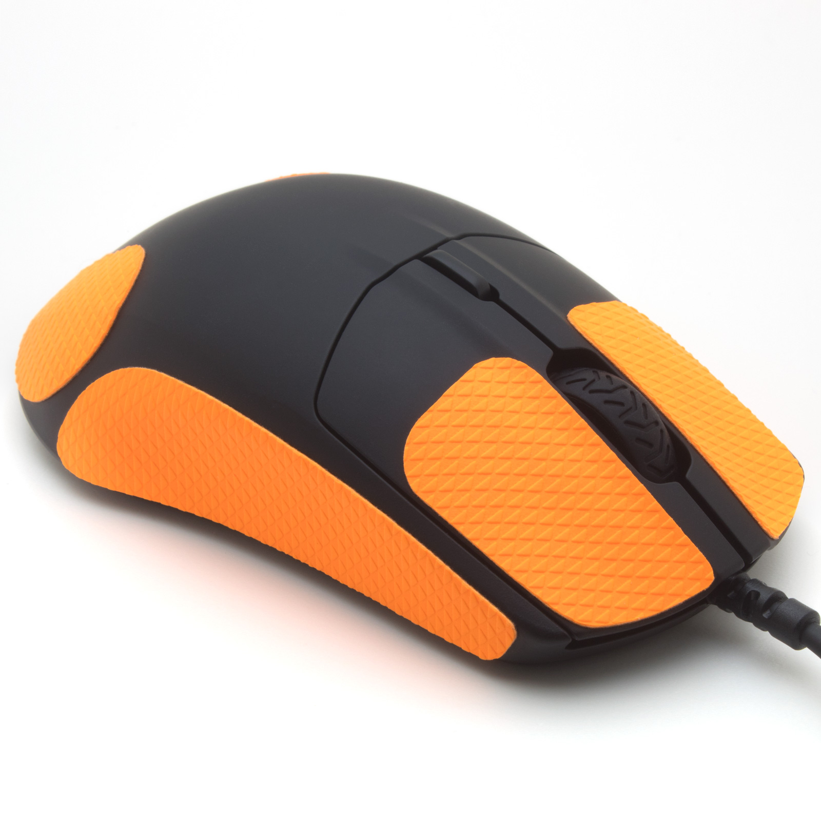 Mouse grip tape for SteelSeries Rival 3 from the brand TrueGrip - front right view