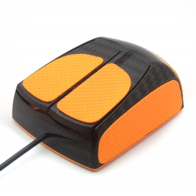 Mouse grip tape for Zaunkoenig M1K from the brand TrueGrip - front left view
